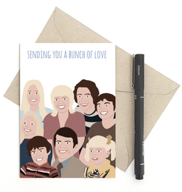 Meet Me in Shermer Sending You a Bunch of Love (Brady Bunch) Greeting Card