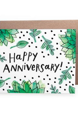 Happy Anniversary! (greenery) Greeting Card