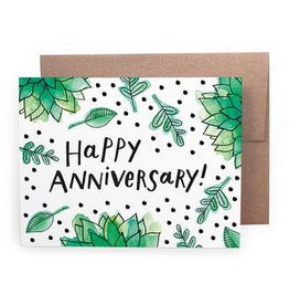 Handzy Shop & Studio Happy Anniversary! (greenery) Greeting Card