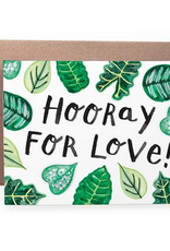 Handzy Shop & Studio Hooray For You! (leaves) Greeting Card