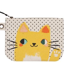 Danica Designs Large Zip Pouch : Meow Meow
