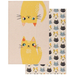 Danica Designs Meow Meow Cat Set of 2 Tea Towels