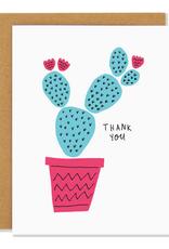 Badger & Burke Thank You Blue Cactus Greeting Card