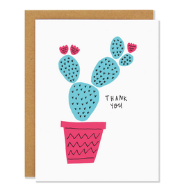 Badger & Burke Thank You Blue Cactus Greeting Card