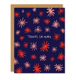 Thanks So Much Asterisks Greeting Card