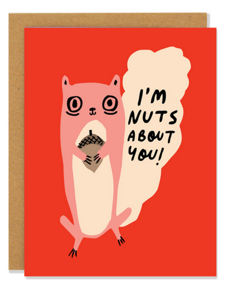 Badger & Burke I'm Nuts About You! Squirrel Greeting Card