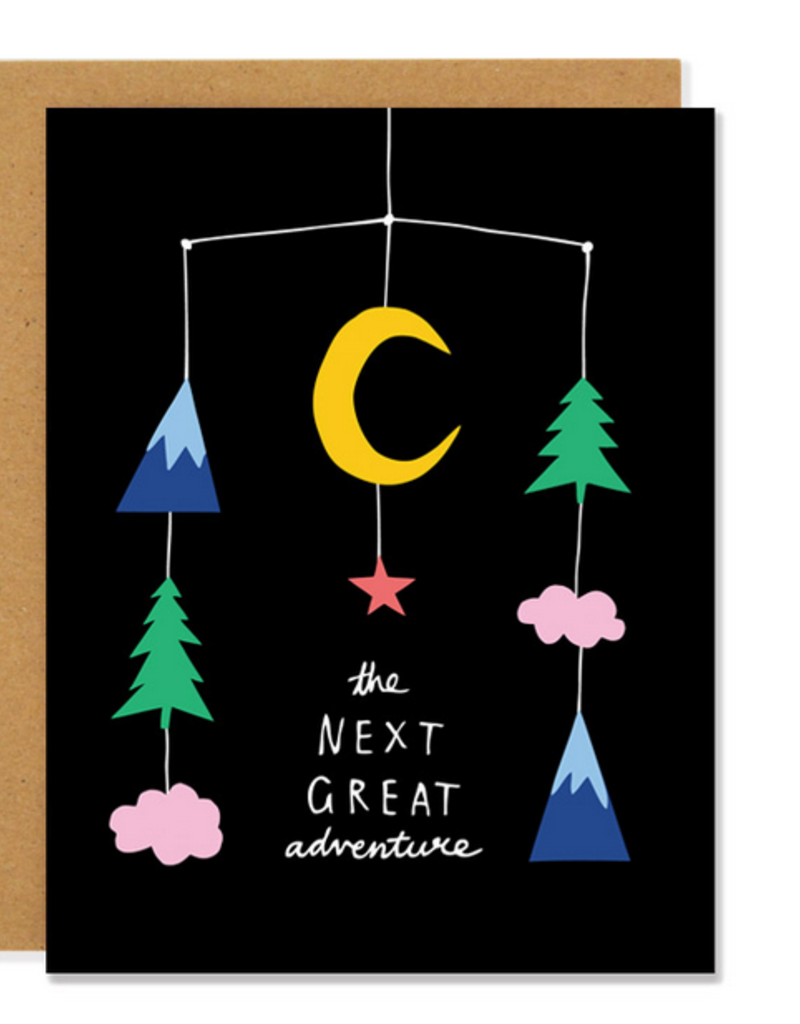Badger & Burke The Next Great Adventure Baby Mobile Greeting Card