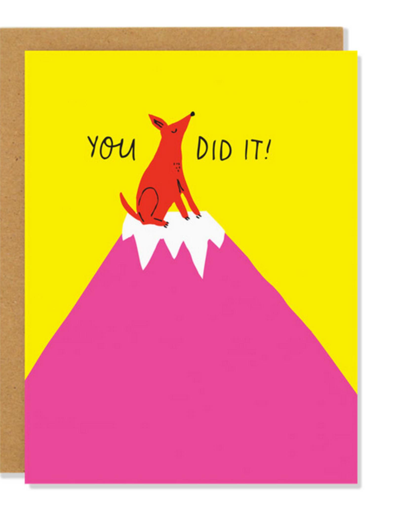 You Did It Mountain Dog Greeting Card