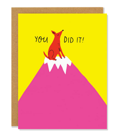 You Did It Mountain Dog Greeting Card