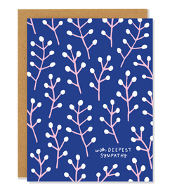 With Deepest Sympathies Willow Greeting Card