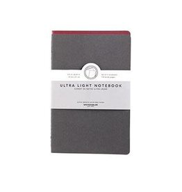 Kikkerland Ultra Light Notebook - Red & Charcoal