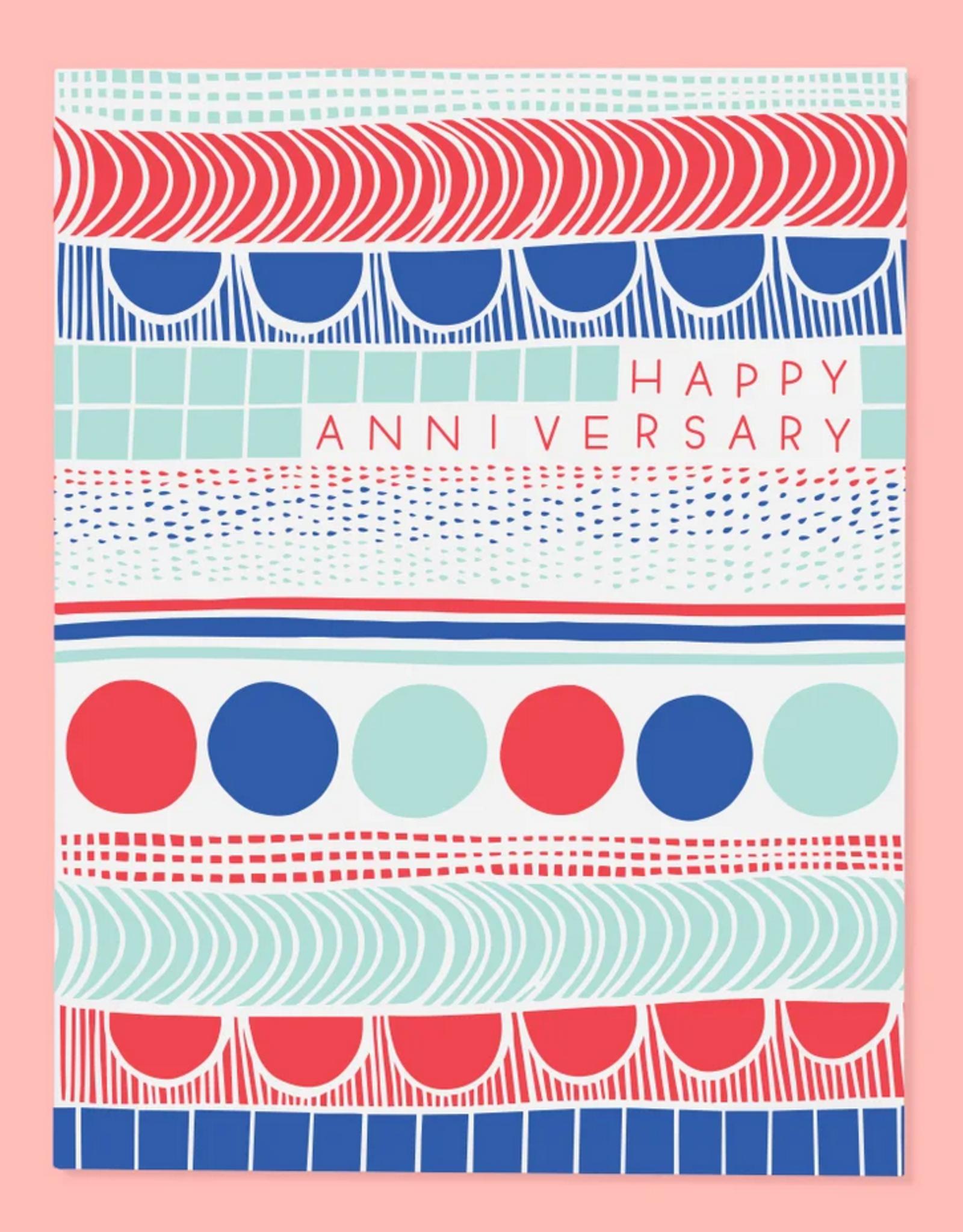 Happy Anniversary Pattern Greeting Card