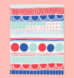 The Good Twin Co. Happy Anniversary Pattern Greeting Card