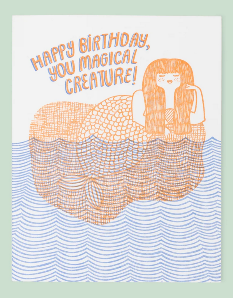 The Good Twin Co. Happy Birthday You Magical Creature Mermaid Greeting Card