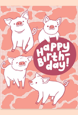Piggies Happy Birthday Greeting Card