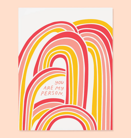 The Good Twin Co. You Are My Person Rainbow Greeting Card