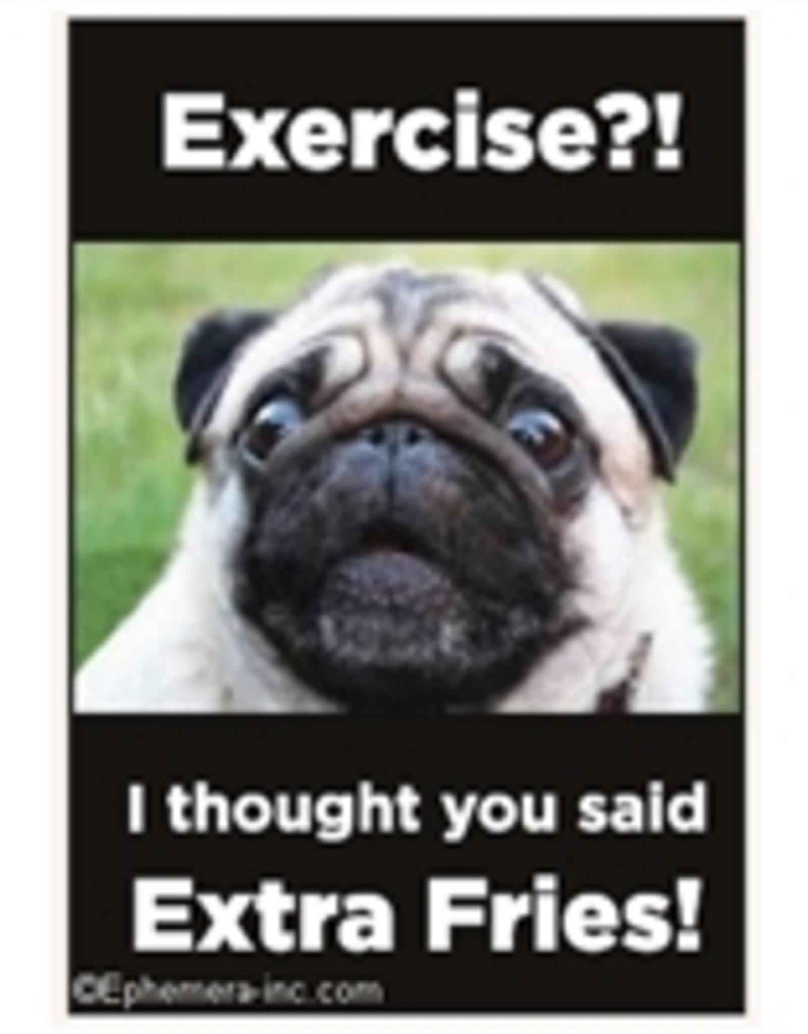 Ephemera, Inc Exercise?! I Thought You Said Extra Fries Magnet