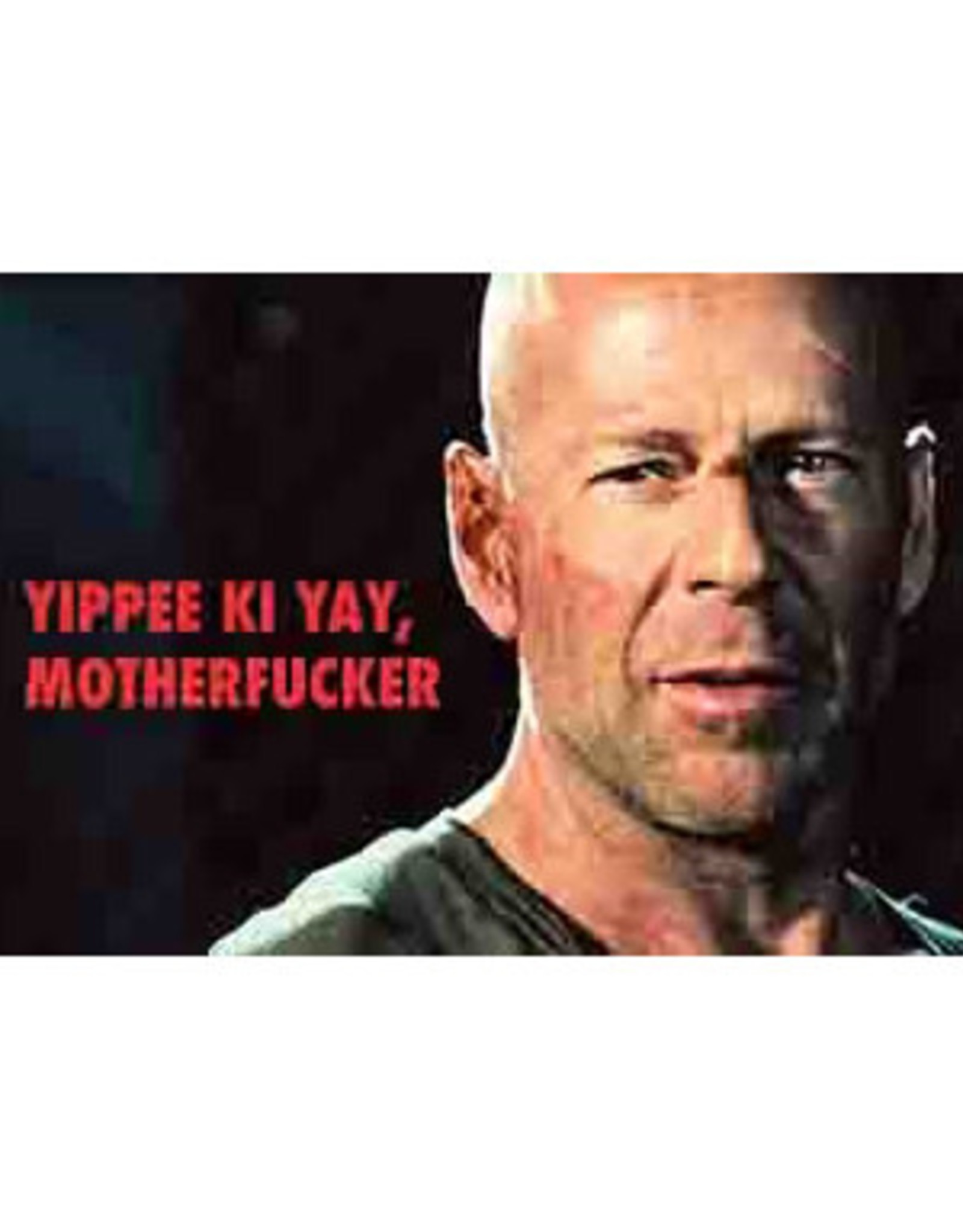 Yipee Ki Yay Motherfucker - Bruce Willis Magnet