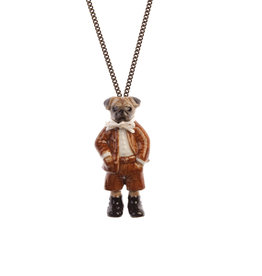 And Mary Porcelain Pug Boy Necklace