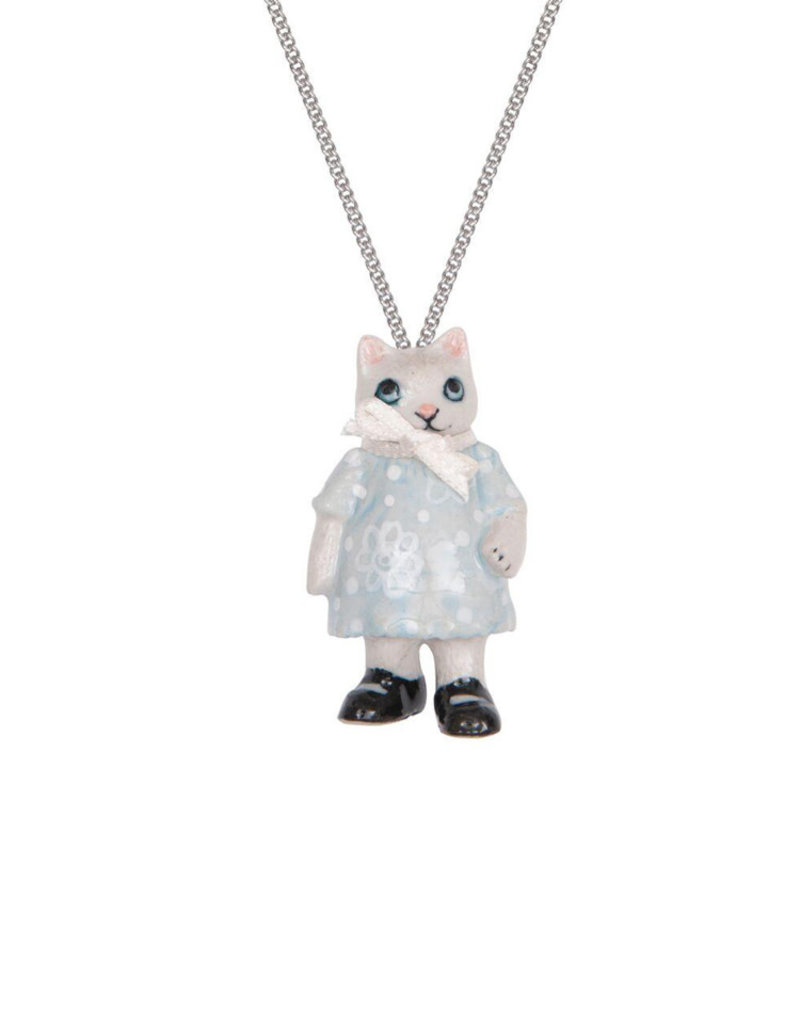 And Mary Porcelain Kitten Girl Necklace