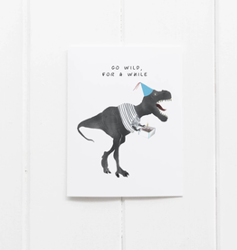 Get Wild Birthday Dinosaur Greeting Card