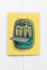 Birthday Sardines Greeting Card