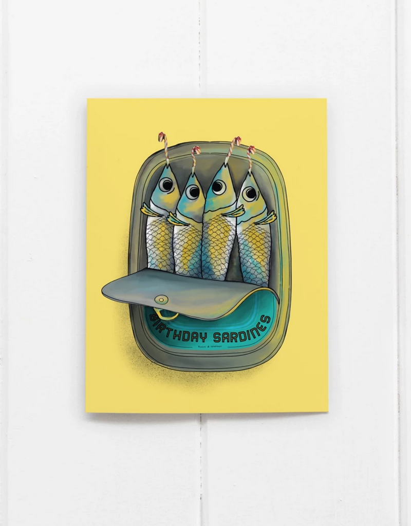 Ramus and Company Birthday Sardines Greeting Card