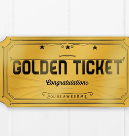 Ramus and Company Congratulations Golden Ticket Greeting Card