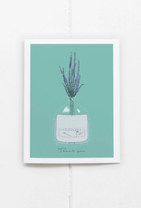 Ramus and Company Thank You Glass Lavender Greeting Card