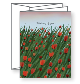 Thinking of You Tulips Greeting Card