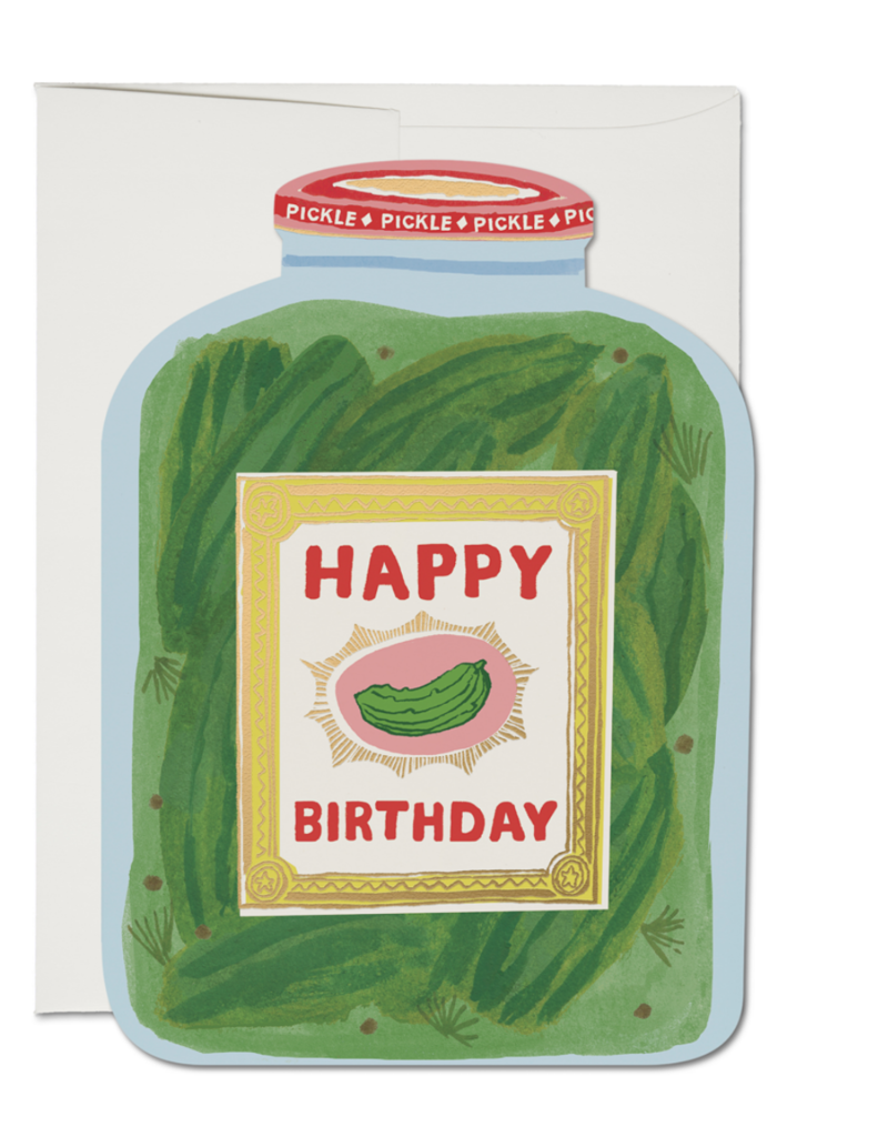 Red Cap Cards Pickle Birthday Greeting Card