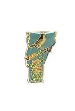 Vermont Bird & Flower Pin