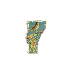 Vermont Bird & Flower Pin