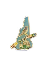 New Hampshire Bird & Flower Pin