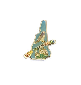 Sojourn Souvenirs New Hampshire Bird & Flower Pin