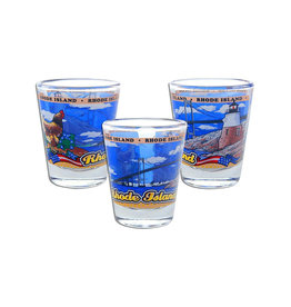 United Souvenir RI Panorama Shot Glass