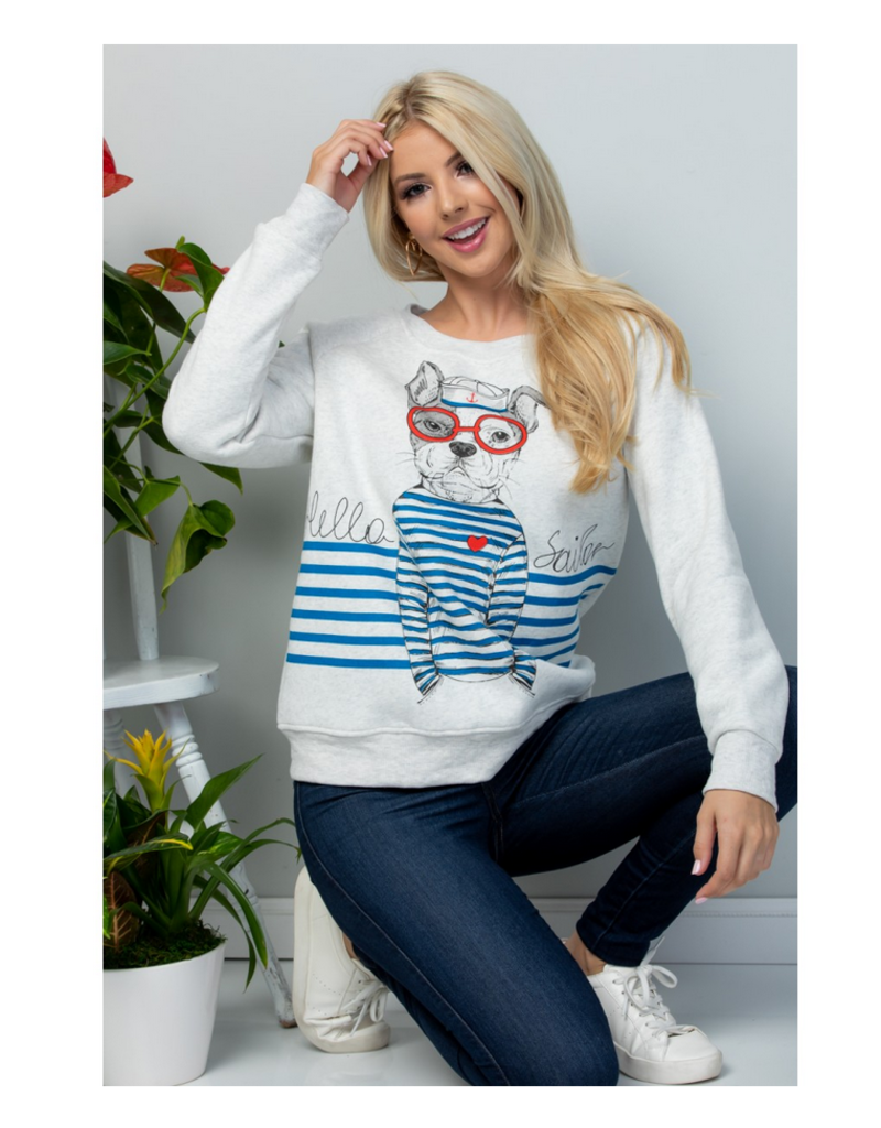 LA Soul Hello Sailor Dog Sweatshirt