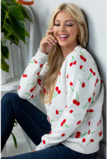 Cherry Print Sweatshirt