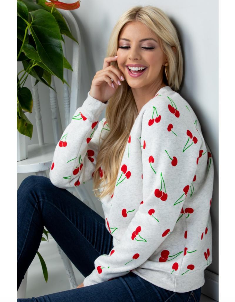 LA Soul Cherry Print Sweatshirt