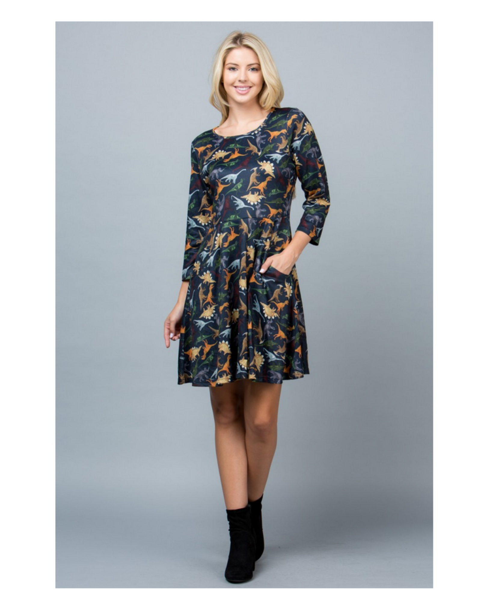 Colorful Dinosaurs Dress