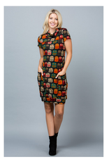 LA Soul Owl Print Sweater Dress with Pockets