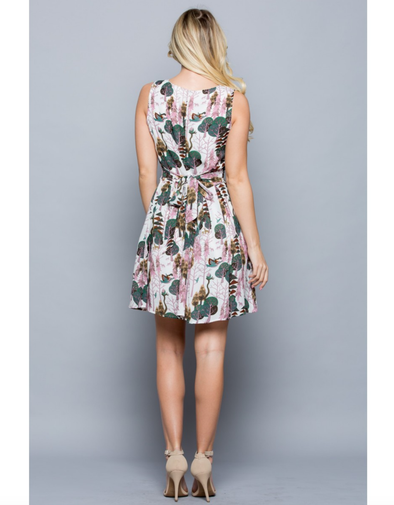 Forest in Summer Print Dress