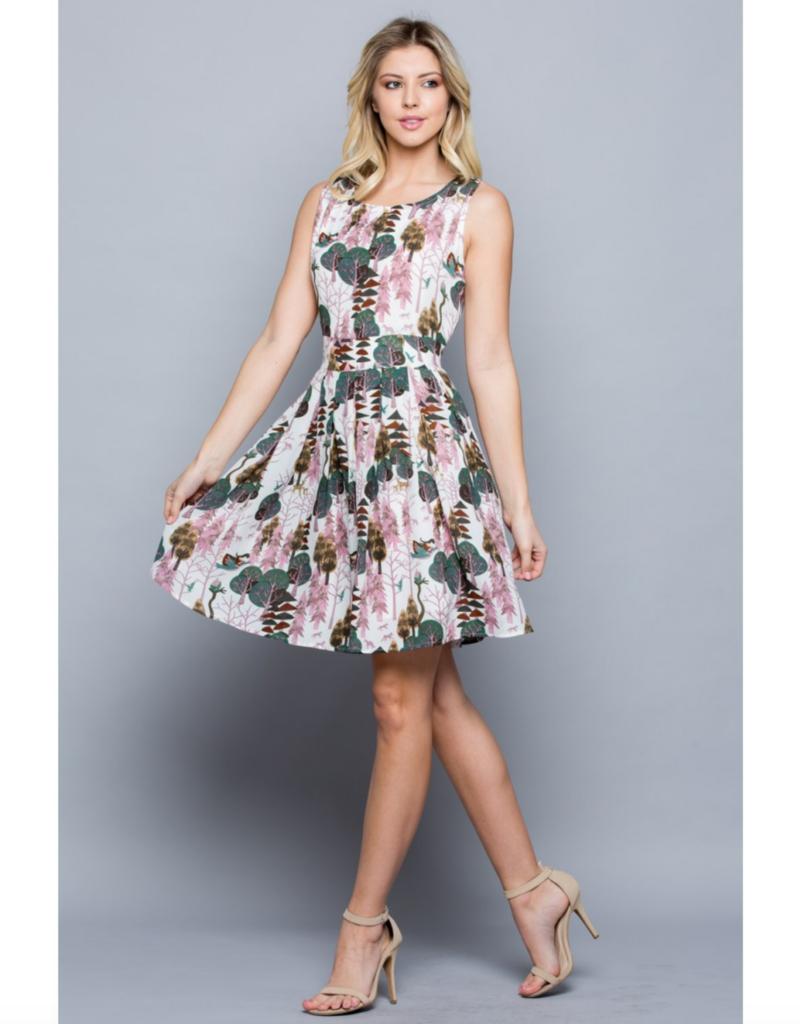 LA Soul Forest in Summer Print Dress