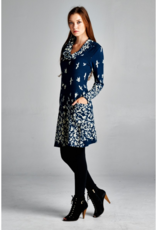 LA Soul Navy Bird Print Dress