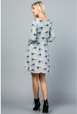 LA Soul Dog Print Sweater Dress