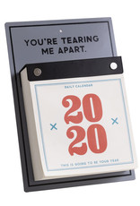 Easy, Tiger 2020 Desk Calendar - Tearing Me Apart