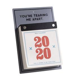 Easy, Tiger 2020 Desk Calendar - Tearing Me Apart