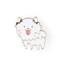 Fluffy Pooch Enamel Pin