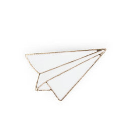 Suck UK Paper Airplane Enamel Pin