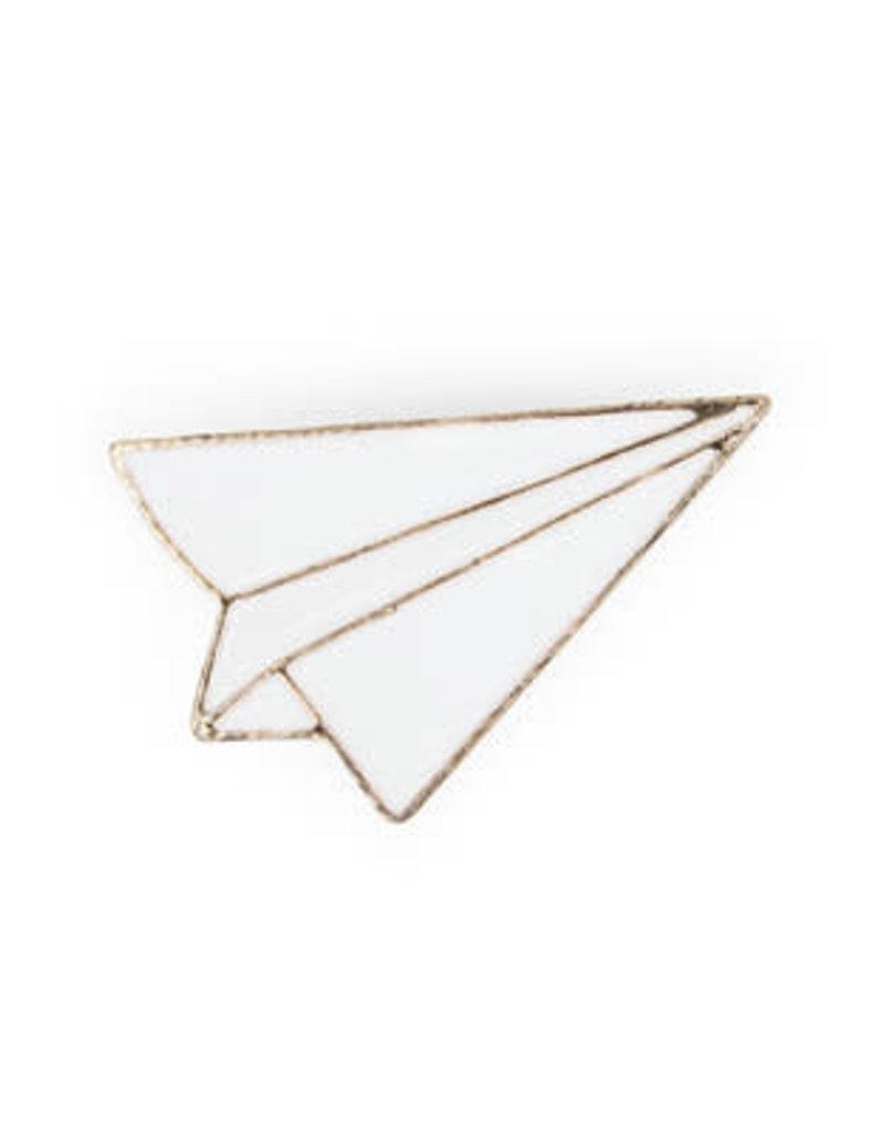 Suck UK Paper Airplane Enamel Pin